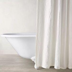 Restoration Hardware Crinkled Shower Curtain